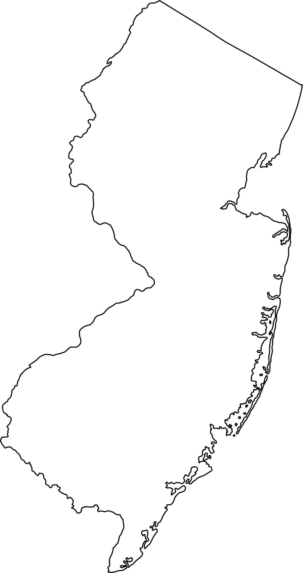 New Jersey blank outline Map | Large Printable High Resolution and Standard Map