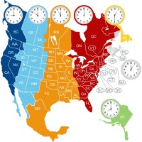 The North America Time Zone Map | Large Printable Colorful