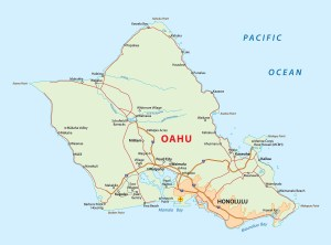 Hawaii Oahu Island Map | Large Printable and Standard Map 2