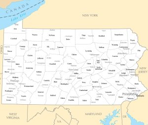 Pennsylvania City Map | Large Printable High Resolution and Standard Map
