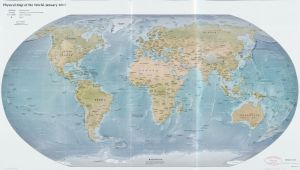 The World Physical Map     January 2015   Large, Printable Downloadable Map