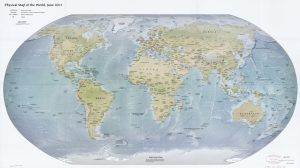 The World Physical Map  | June 2012 | Large, Printable Downloadable Map