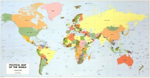 The World Political Map    June 1982   Large, Printable Downloadable Map