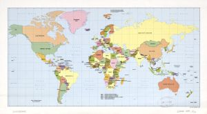 The World Political Map  | April 1989 | Large, Printable Downloadable Map