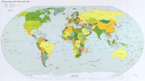 The World Political Map    April 2007   Large, Printable Downloadable Map