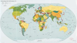 The World Political Map    January 2015   Large, Printable Downloadable Map