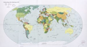 The World Political Map  | June 2009 | Large, Printable Downloadable Map
