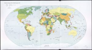 The World Political Map    June 2011   Large, Printable Downloadable Map