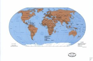The World Political Map    June 2000   Large, Printable Downloadable Map