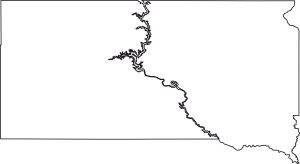 South Dakota Blank Outline Map | Large Printable High Resolution and Standard Map