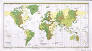 The World Standard time zones Map     2011   Large, Printable Downloadable Map