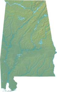 Alabama Large Political  Map   Political  Map of Alabama With Capital , city and River lake-3