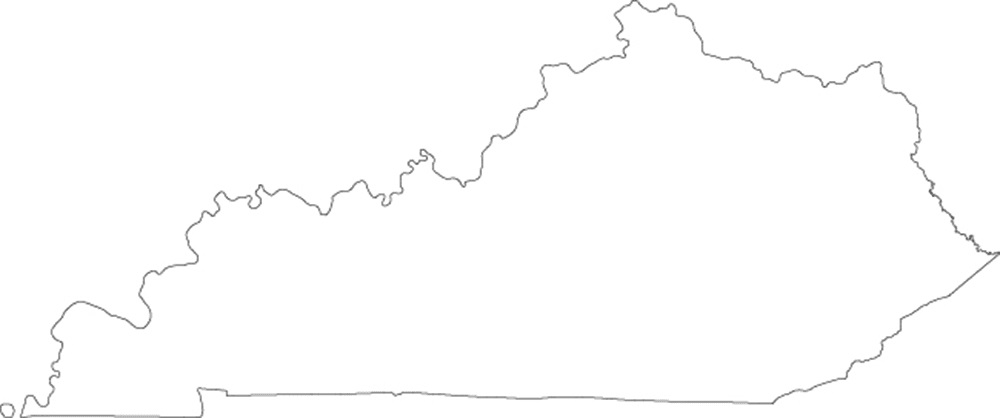Kentucky blank outline Map | Large Printable High Resolution and Standard Map