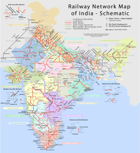 Railway Map of India | Indian Railways Network Map