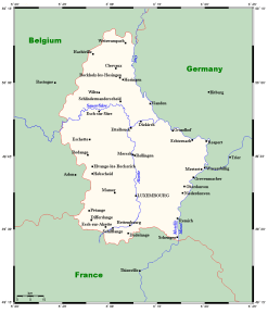 River Map of Luxembourg | Major Rivers of Luxembourg