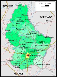 Political Map of Luxembourg | Political Border Map