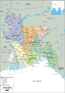Political Map Of Bangladesh | Detailed Political Map