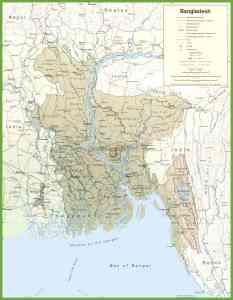 Road Map Of Bangladesh | Bangladesh Transport Map