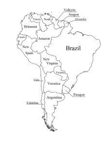Outline of South America | Blank Printable Map of South America