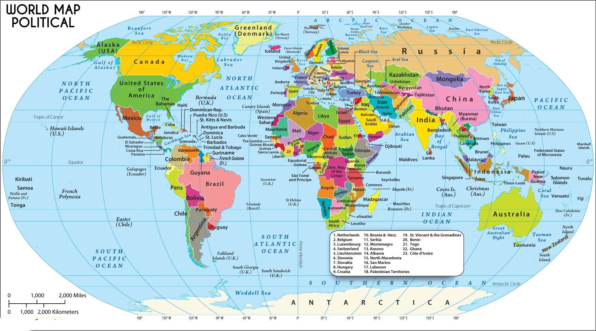 Political Map of The World | Political Border Map