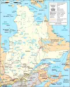 Map of Quebec Province | Political, Physical, Outline And Cities Map