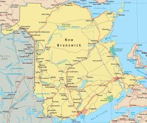 Map of New Brunswick Province | Political, Geography And Cities Map