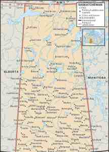 Map of Saskatchewan Province | Political, Geography, Outline And Cities Map