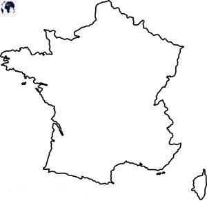 Outline Map of France   Large, Printable France Map