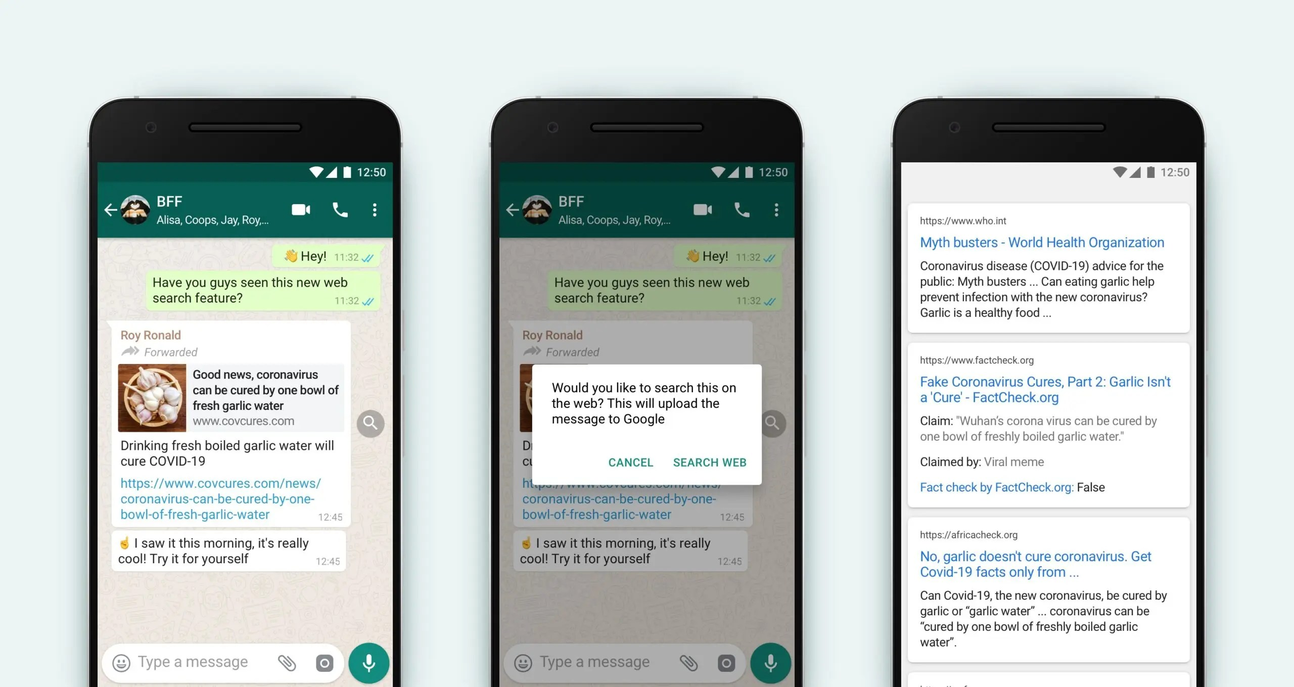 WhatsApp Search The Web Feature