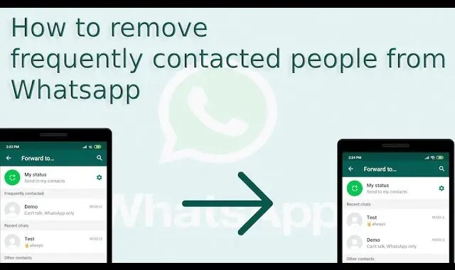 Hide Contacts from Frequently Contacted on WhatsApp