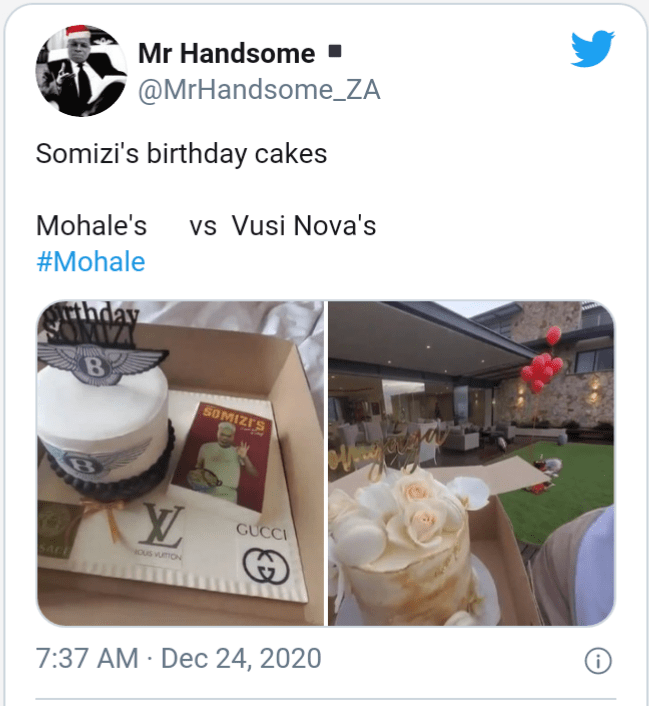 Mzansi Compares Somizi's Birthday Presents From Mohale And Vusi Nova
