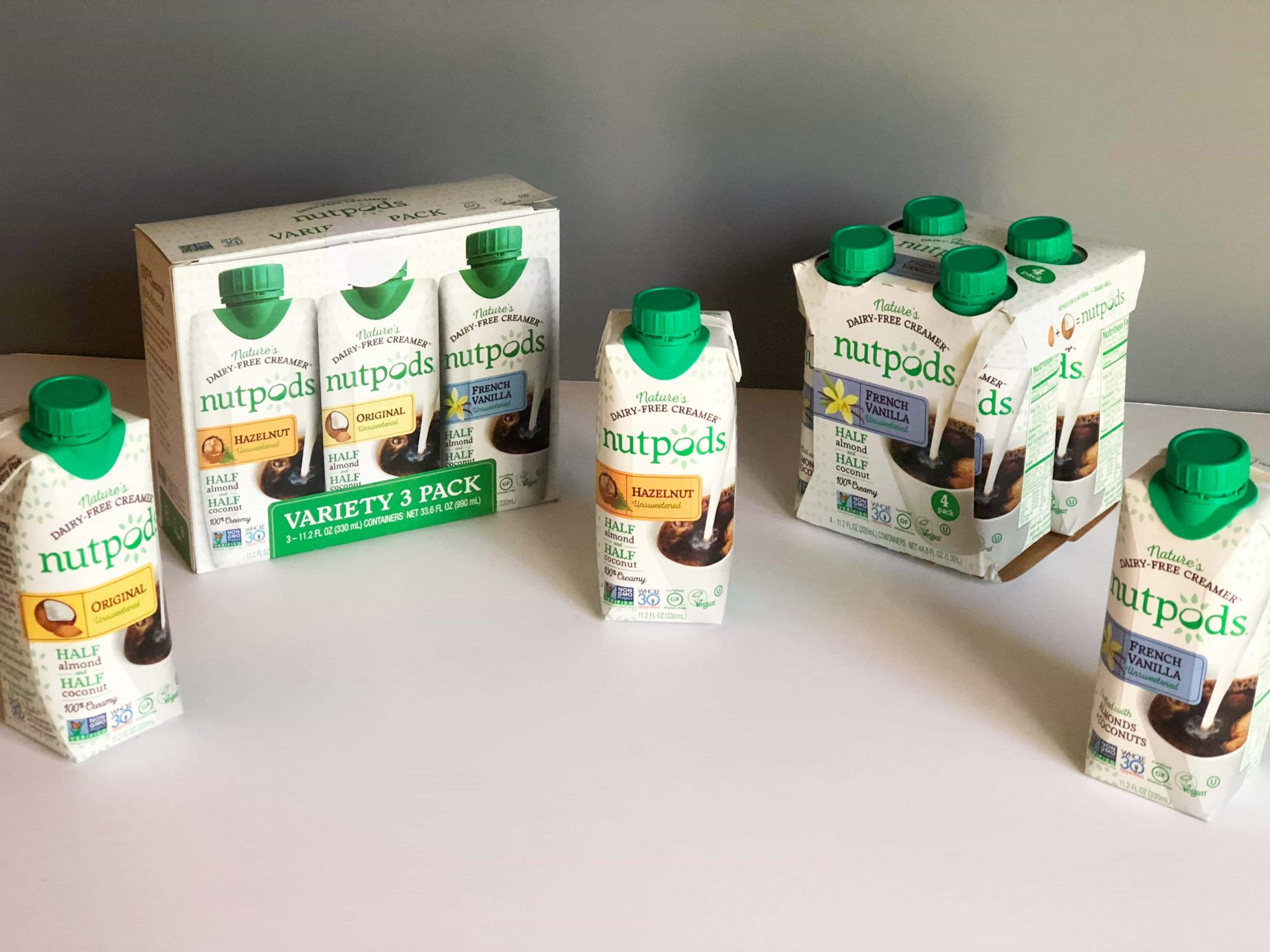 Nutpods - The Non-Dairy Creamer Alternative #saveeandsavory #review #nutpods #dairyfree #vegan #whole30 #kickstarter #variety