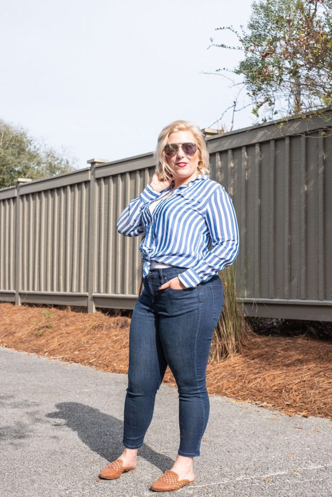 5 SPRING SHOES I'LL BE WEARING NON-STOP THIS YEAR #whatsavvysaid #springstyle #springshoes #petiteblogger #petitefashion #samedelmanmules #brownmules