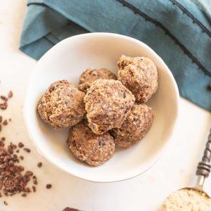 Tropeaka Salted Caramel Protein Review + A Recipe #whatsavvysaid #veganprotein #veganglutenfree #tropeaka #tropeakaprotein #proteinballs