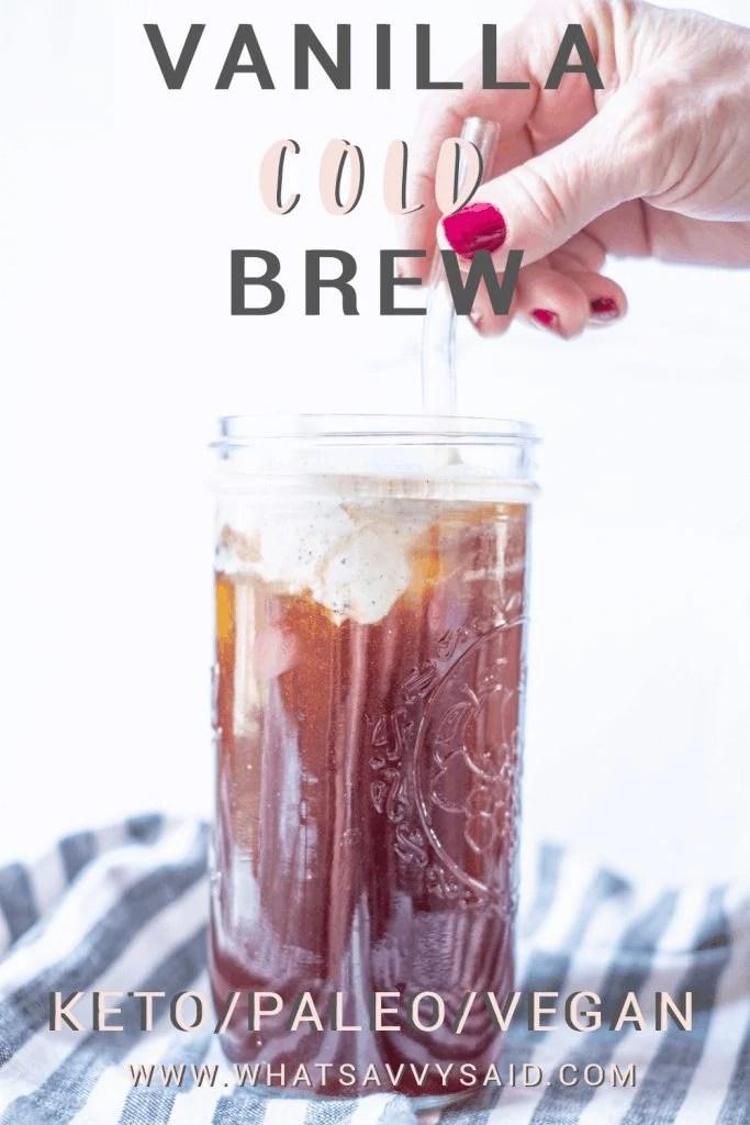 Vanilla Cold Brew Cream #whatsavvysaid #healthylatte #starbucksdupe #dairyfreelatte