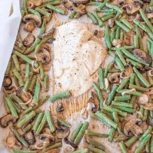 Dijon Roasted Fish & Veggies #whatsavvysaid #dinnerunder30 #paleodinner #paleorecipe #whole30