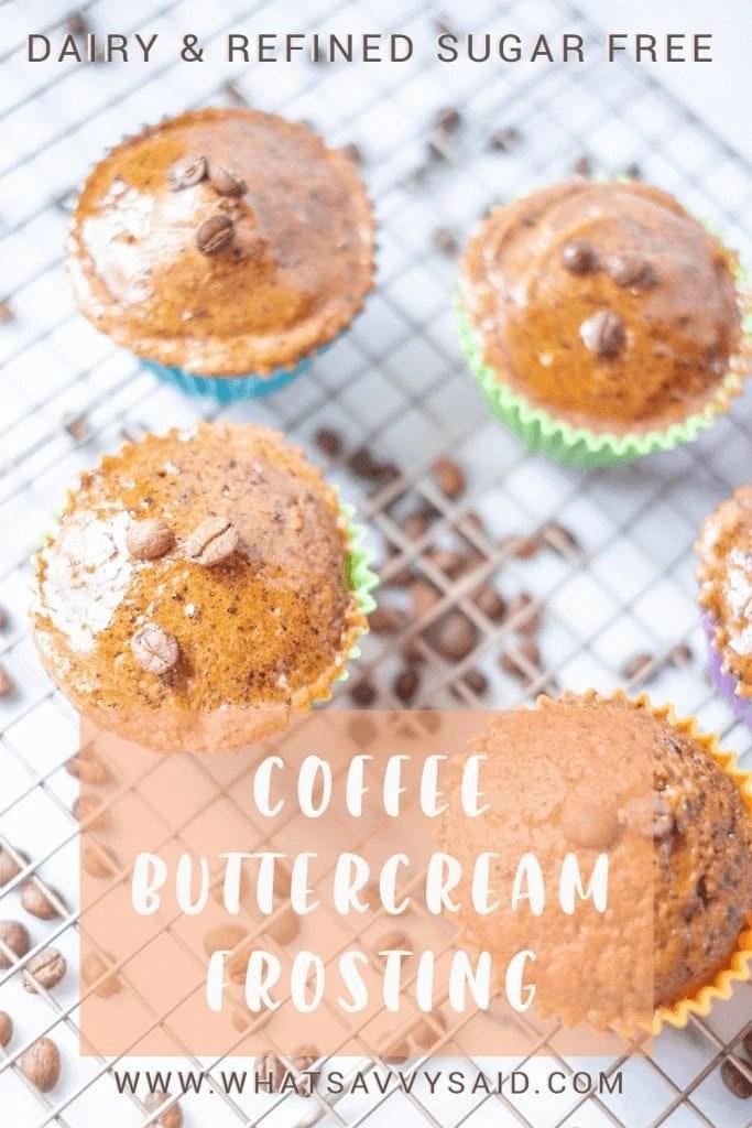 Paleo Coffee Buttercream Icing #whatsavvysaid #paleorecipe #refinedsugarfreerecipe