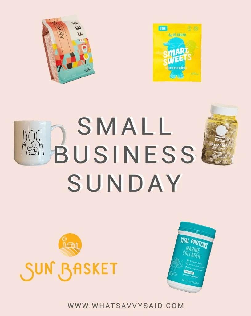 Small Business Sunday #whatsavvysaid #shopsmall