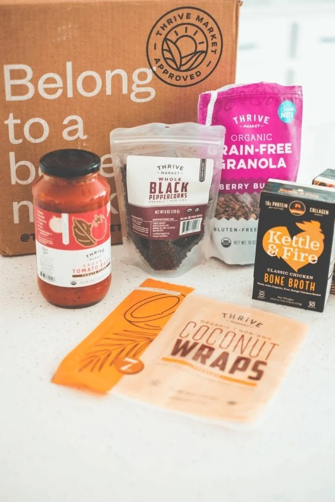 Thrive Market Review #whatsavvysaid #grocerydelivery #pantryessentials #glutenfreedairyfree #healthypantry