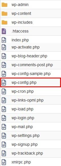 Root Directory of WordPress Website