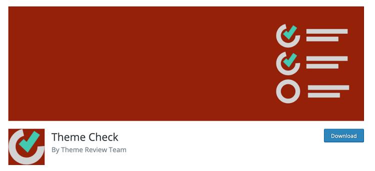 Theme Check Plugin