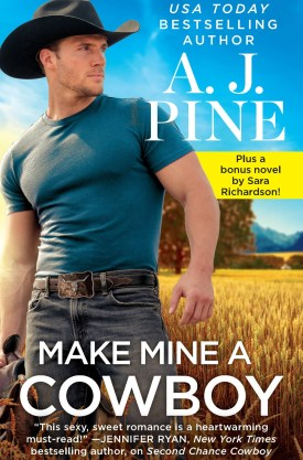 #BookReview Make Mine a Cowboy (Meadow Valley #) by A.J. Pine @AJ_Pine @readforeverpub @grandcentralpub #ReadForever #Forever20 #AJPine #MeadowValley