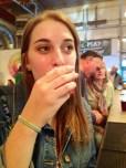 My friend, Brianna Hendrick, enjoying her personal favorite: Sweet Stout.