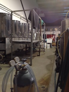 A view of the fermenting room and cleaning facility.