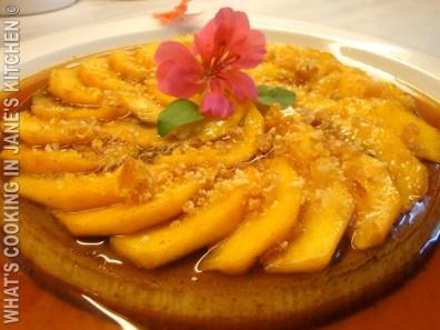 Crème Caramel With Peaches ©