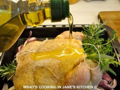 Greek Roast lemon And Rosemary Chicken ©