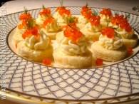 Salmon Caviar Canapés And Lemon Crème Fraîche ©