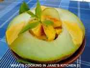 Fruit Salad And Melon Boats ©