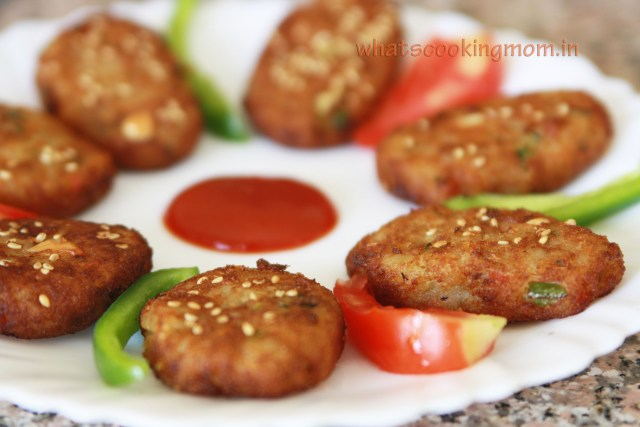 nutty sweet potato cutlet