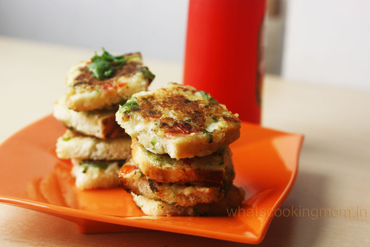 vegetable Toast - breakfast, snack, vegetarian, kids school lunch box, kids tiffin box